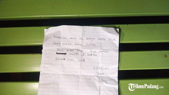 POPULER PADANG - Bayi dan Secarik Surat Ditemukan Dekat Warung  Remaja Tawuran Dikirim ke Batalyon