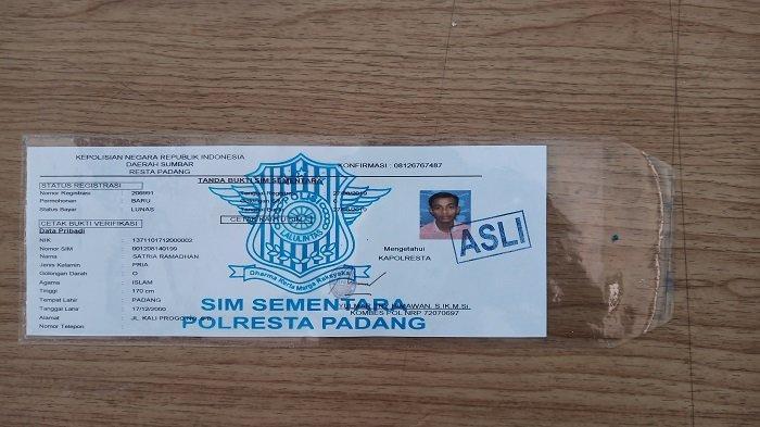 Blangko SIM di Polresta Padang Kosong, Sekitar 4.000 Pengendara Hanya Kantongi SIM Sementara