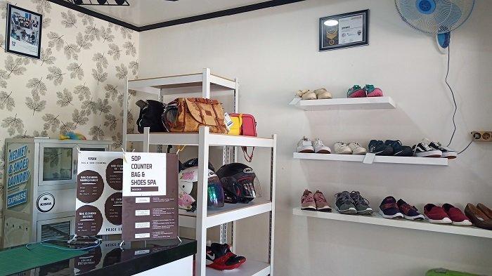 TRIBUNWIKI: Sepatu Kusam atau Kotor? Ini Rekomendasi Laundry Sepatu di Kota Padang