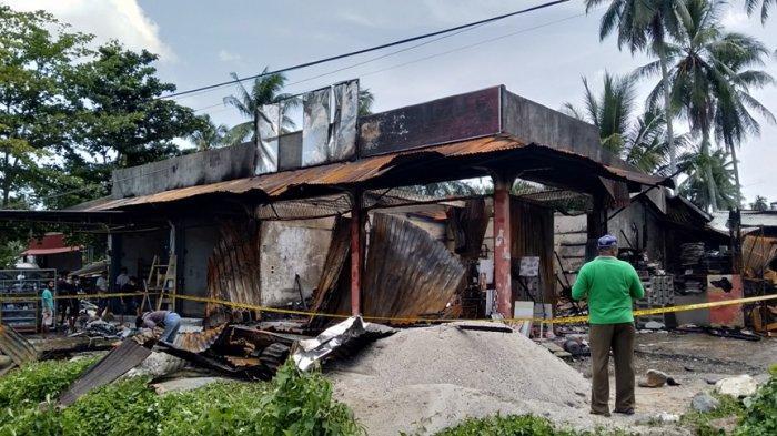 Kebakaran di Lubuk Basung, 5 Toko Hangus, Saksi Sebut Lihat Api di Belakang Toko