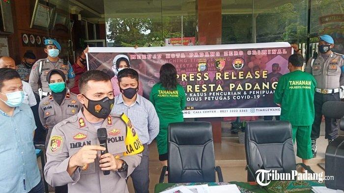 Tim Klewang Polresta Padang Ringkus Petugas Satgas Covid-19 Gadungan, Modus Pelaku Luluran Korban