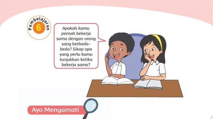 Kunci Jawaban Tema 1 Kelas 4 Sd Halaman 123 124 125 127 128 Buku Tematik Subtema 2 Pembelajaran 6 Halaman All Tribun Padang