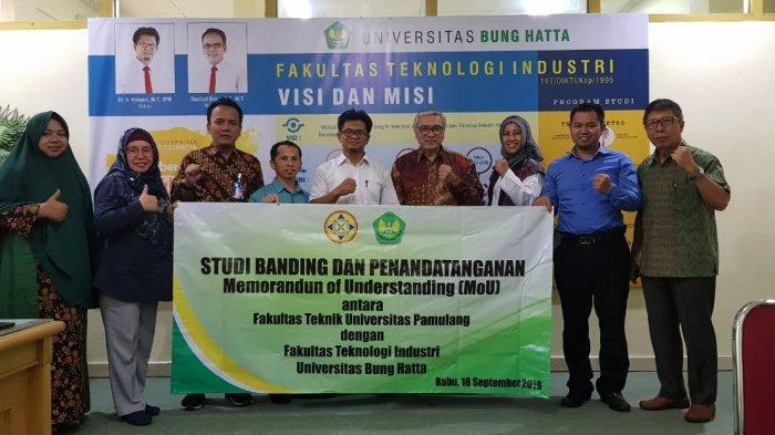 Fakultas Teknik Universitas Pamulang Serpong Studi Banding ke FTI Universitas Bung Hatta