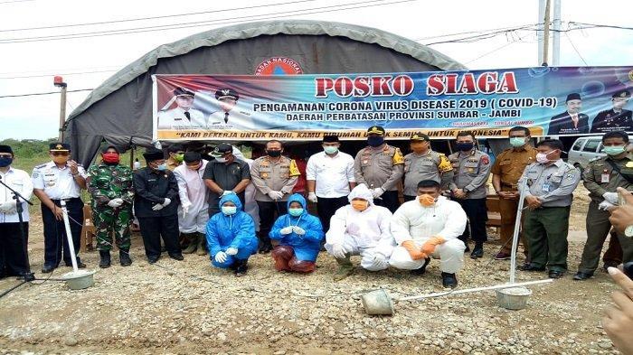 Kapolda Sumbar Kunjungi Posko Siaga Pengamanan Covid-19 di Perbatasan Sumbar-Jambi