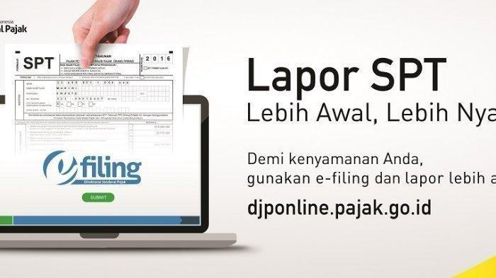 Waktu Lapor SPT 2019 Online Sisa 2 Hari Lagi, Lewat 31 Maret Kena Denda, Ini Cara Lapor SPT Online