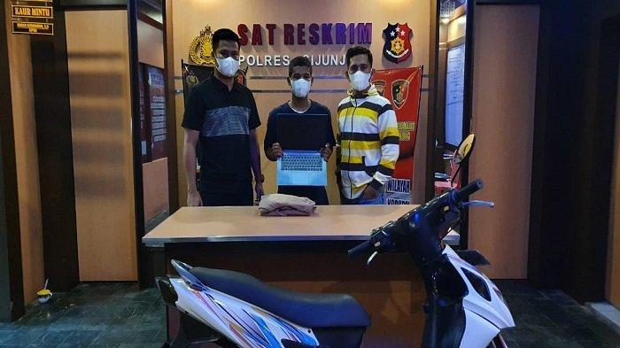 Diduga Curi Laptop di Sijunjung,Tim Reskrim Bekuk Terduga Pelaku, Sedang 'Nongkrong' Bersama Teman