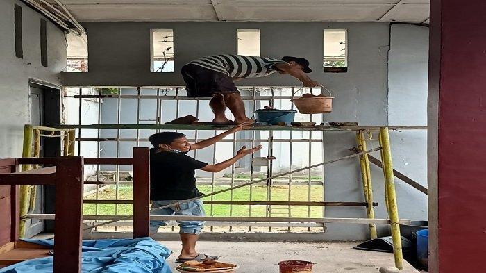 Antisipasi Gangguan Keamanan, Dinding dan Ventilasi Lapas Kelas IIA Padang Diperbaiki