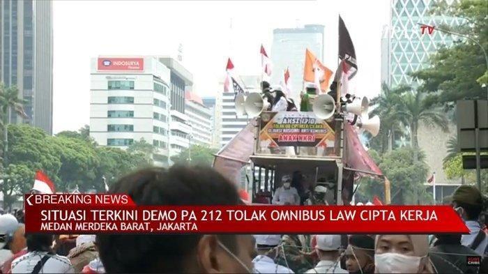 LINK Live Streaming Demo Hari Ini di Jakarta Tolak UU Cipta Kerja, Kompas TV hingga TV One