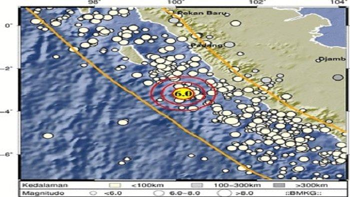 Gempa M 6,0 Guncang Kota Mukomuko Bengkulu, BMKG sebut Getaran Dirasakan hingga Padang dan Pariaman