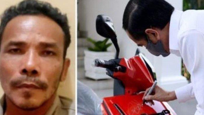 Pria Asal Jambi M Nuh Nekat Melakukan Prank Lelang Motor Listrik Presiden Jokowi Rp 2,55 Miliar