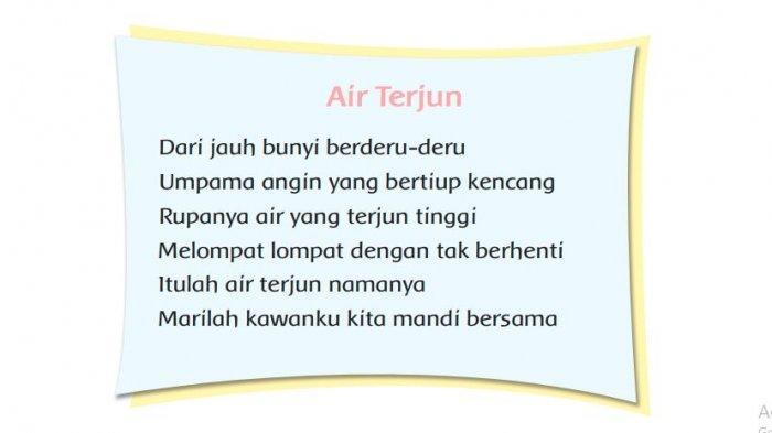 Makna Kata Jauh, Deru, Umpama, Rupanya, Terjun pada Puisi Air Terjun, Jawaban Kelas 2 Tema 5 Hal 185