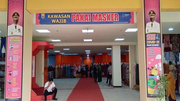 Suasana Pasar Rakyat Pariaman, Provinsi Sumatera Barat (Sumbar), yang telah diresmikan secara langsung oleh Wakil Presiden Ma'ruf Amin pada Selasa (6/4/2021) .