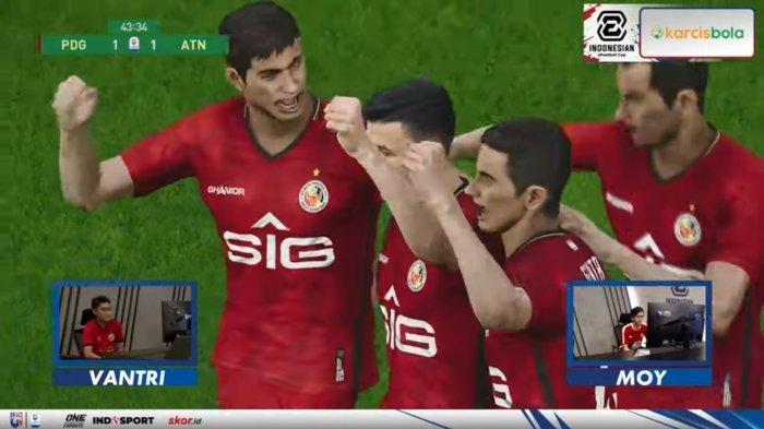 Semen Padang FC Tempati Peringkat 2 Klasemen Grup A Indonesia E-Football Cup 2021