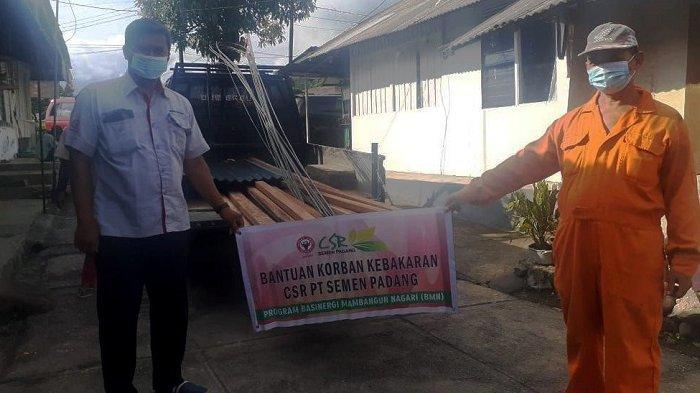 Cerita Korban Kebakaran Kandang Beserta 14 Kambing Setelah Dibantu PT Semen Padang