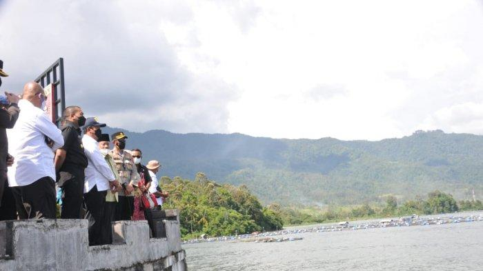 Tinjau Danau Maninjau Menteri KP Minta Masyarakat Budidaya Ikan Contoh Nagari Suliki Lima Puluh Kota