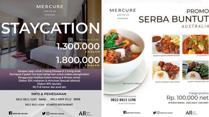 Mercure Hotels Padang Hadirkan Promo Staycation dan Kuliner Nusantara, Tersedia Layanan Antar Gratis