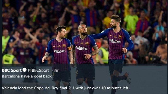 KEJUTAN Valencia Buyarkan Ambisi Barcelona Jadi Juara