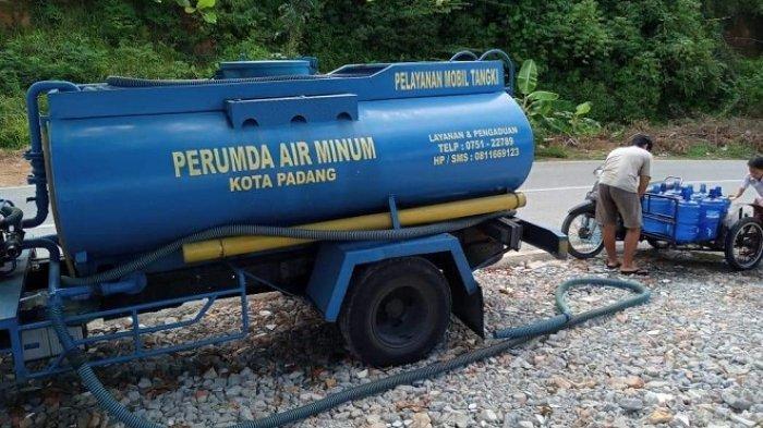 Kekeringan di Padang, PDAM Kirim 2 Tangki Air ke Bukit Gado-gado dan Seberang Pabayan