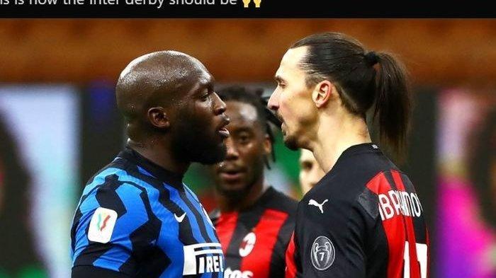 Bomber Inter dan AC Milan Perang Dingin - Zlatan Ibrahimovic dan Romelu Lukaku Ibarat 'Duo Jago'