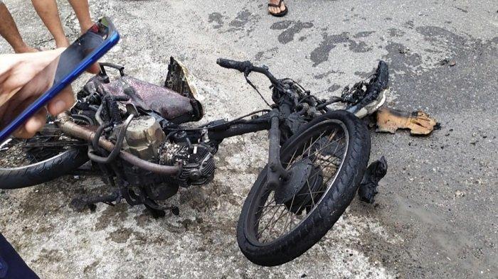 Seorang Remaja di Agam Dikagetkan, Ada Percikan Api dari Motor Modifikasi dan Tanpa Nopol
