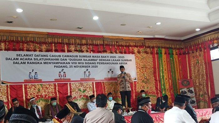 Mulyadi Janji Bangun Balai Adat di Seluruh Nagari dan Kembalikan Kurikulum BAM