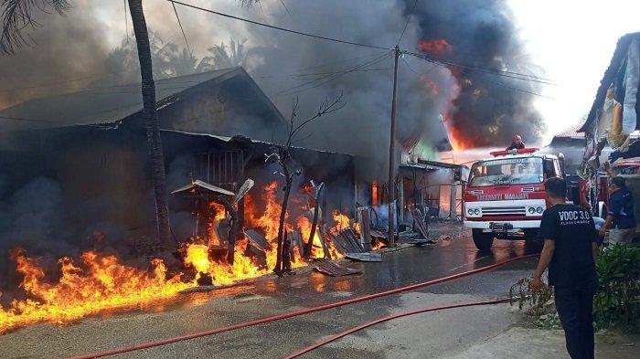 Kebakaran di Kota Payakumbuh Sumatera Barat, Kerugian Ditaksir Mencapai Rp 1 Miliar Lebih