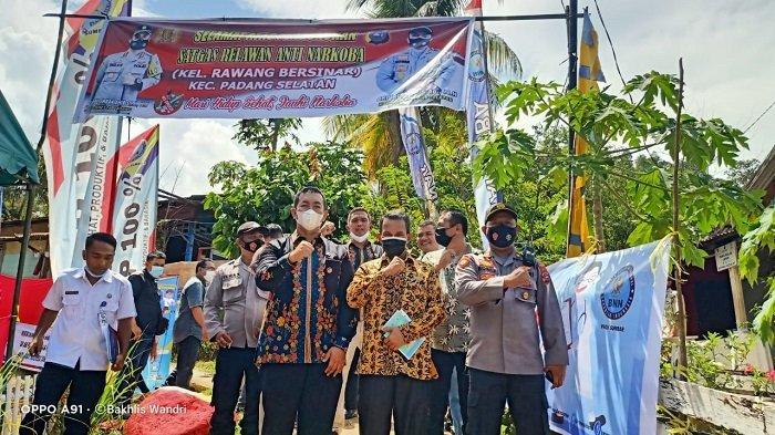 Tim Gabungan Lakukan Sosialisasi, Sambangi Kampung Bersih Narkoba di Padang Selatan