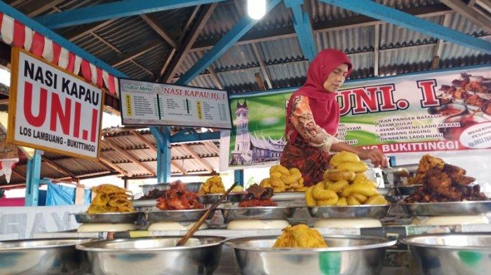 Harga Nasi Kapau di Los Lambuang Bukittinggi, Rp 28 Ribu Sudah Makan Kenyang dengan Lauk Melimpah
