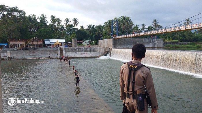 Remaja Nekat Berenang di Bendungan Koto Tuo Kota Padang, Aparat Datangi Lokasi Pemandian