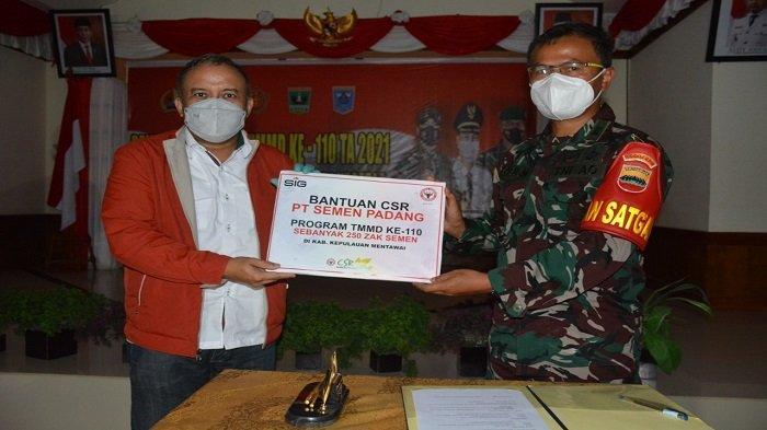 Dukung Program TMMD ke-110, Korem 032/Wirabraja Apresiasi Semen Padang