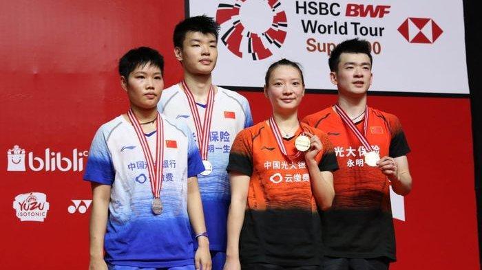 Update Hasil Bulu Tangkis Ganda Campuran - Menangi All China Final, Wang/Huang Raih Emas