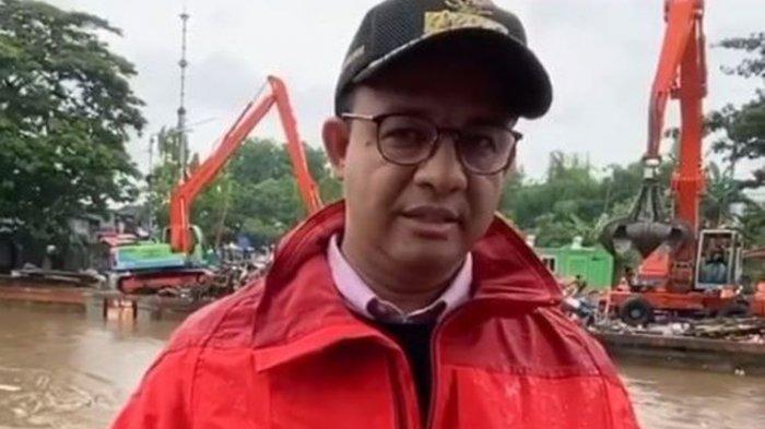 Gubernur Anies Beserta Rombongan BNPB dan Menteri PUPR Pantau Banjir Gunakan Helikopter
