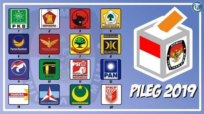 REAL Count KPU Hingga Minggu (12/5/2019): PDIP Kokoh, Demokrat dan PKS Saling Kejar