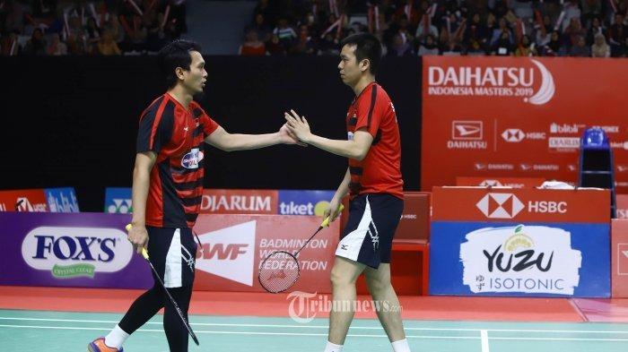 Mohammad Ahsan/Hendra Setiawan Lewati Laga Ketat untuk Tembus Semifinal