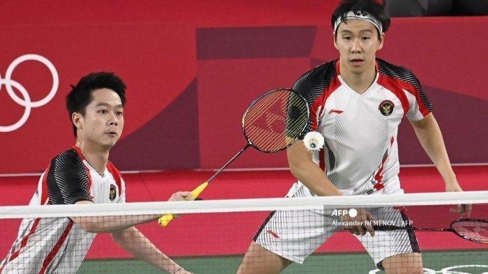 Ganda Putra Indonesia Kalah di Babak Perempat Final Olimpiade Tokyo 2021, Kevin Sanjaya Kecewa