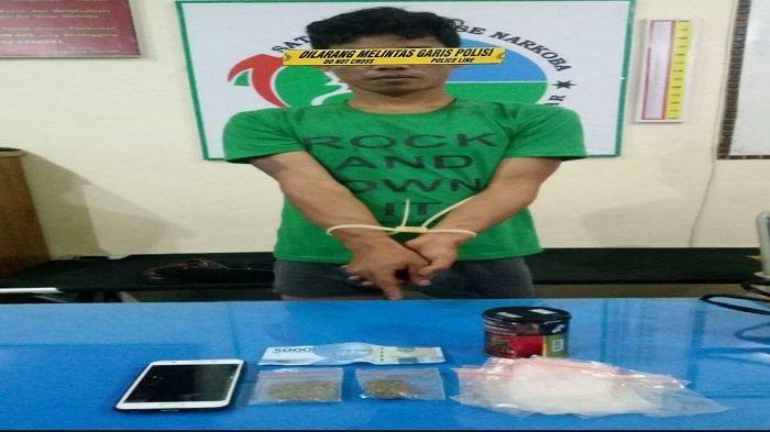 Sempat Buang Narkoba Jenis Ganja ke Kolam, Pria Inisial BP Akui 2 Paket Ganja Adalah Miliknya
