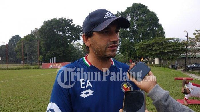 Eduardo Almeida Optimistis Semen Padang FC Bisa Rebut Tiga Poin Lawan Persija Jakarta