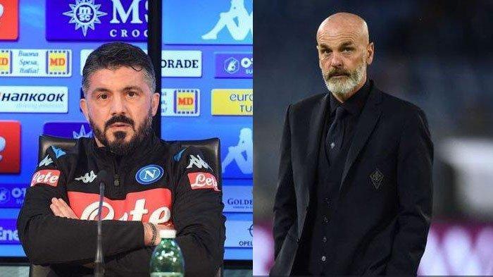Jelang Napoli VS AC Milan, Bagaimana Rekor Pertemuan Gattuso Vs Stefano Pioli sebagai Pelatih?