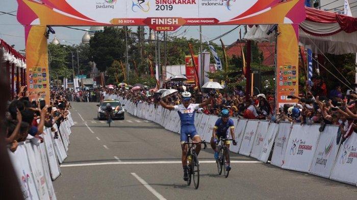 HASIL Etape III Tour de Singkarak (TdS) 2019: Pembalap Grospe Ismael Jr Patahkan Rekor Jesse Ewart