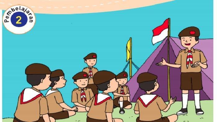 Udin Pemimpin Kelompok Barung Biru, Tema 8 Kelas 3 SD dengan Pembelajaran 6 Subtema 2