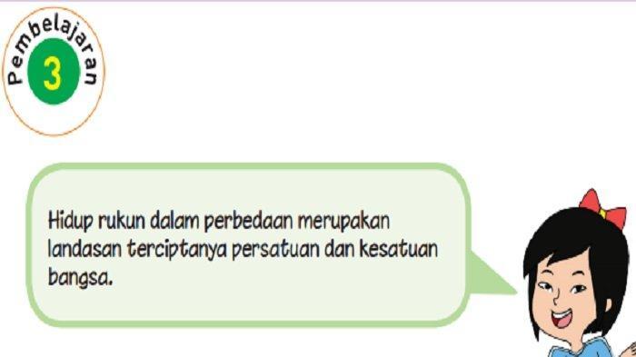 Kunci Jawaban Tema 2 Kelas 6 Halaman 118 dan 120 Pembelajaran 3 Subtema 3 Bersatu Kita Teguh