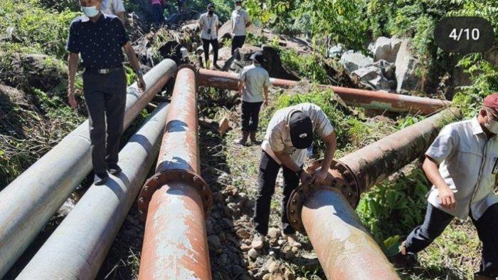 20 Pipa PDAM Padang Putus akibat Banjir Lalu, Perbaikan Masih Berlangsung, Harap Warga Sabar
