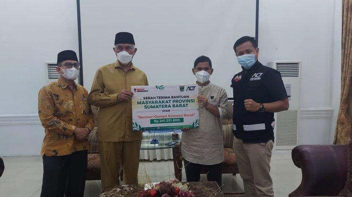 Pemprov Sumbar Salurkan Bantuan dari Masyarakat Sumbar untuk Korban Bencana di Sulbar