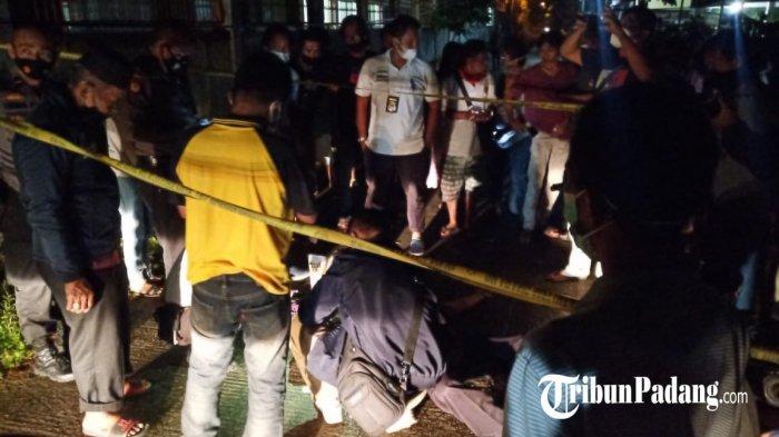 Pemotor ditemukan meninggal tertelungkup di Lolong Belanti, Padang, Kamis (27/5/2021).