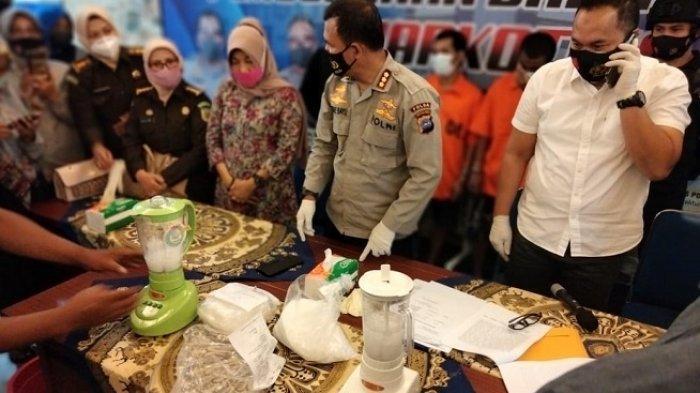 Polda Sumbar Blender 3 Kg Sabu lalu Dicampur Cuka, Hasil Tangkapan Jaringan Malaysia-Aceh