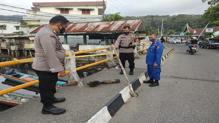 Benda Diduga Proyektil Peluru Penghancur yang Ditemukan Nelayan di Padang Diamankan Tim Jibom