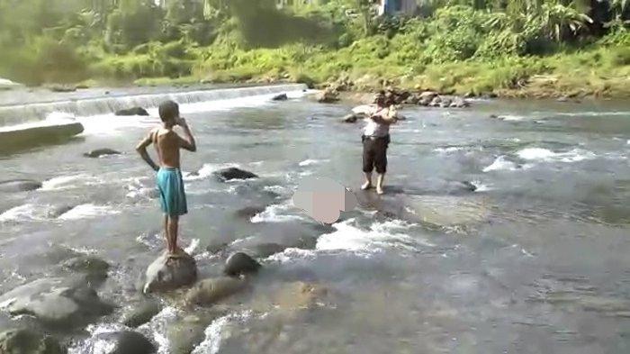 KRONOLOGI Penemuan Mayat Pria Sungai Kuranji Padang, Warga Lihat Korban Tersangkut di Batu
