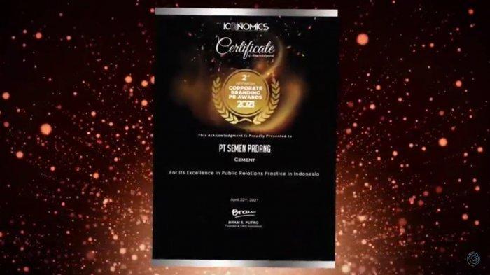 Semen Padang Raih Penghargaan Corporate Branding PR Awards 2021