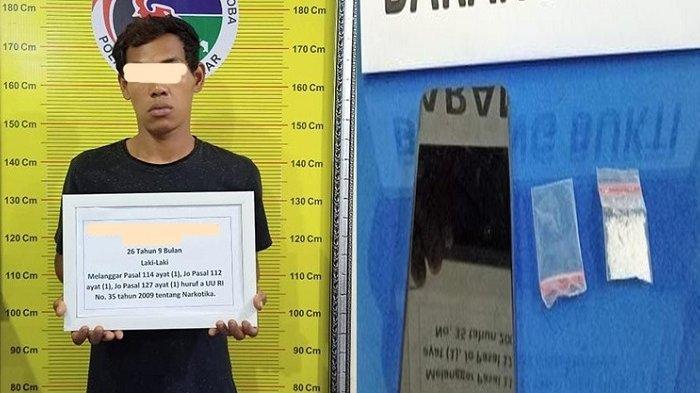 Kedapatan Genggam Satu Paket Sabu, RB Digelandang ke Mapolres Tanah Datar