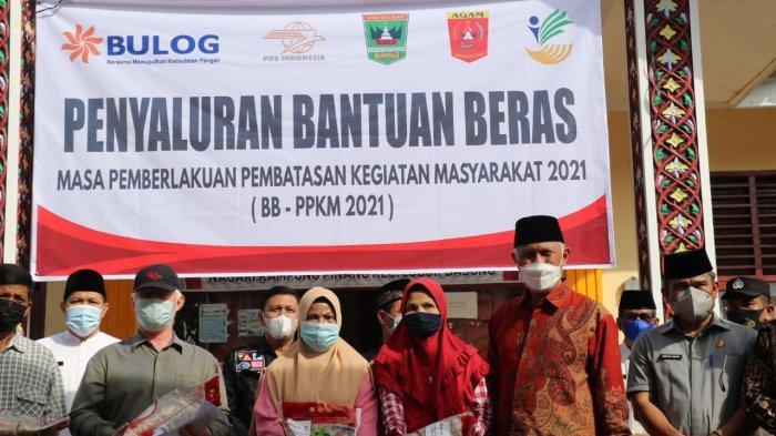 Penyaluran Beras Bantuan PPKM Kabupaten Agam Mencapai 50,77 Persen.
